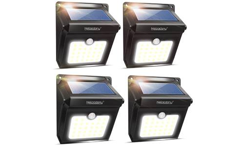 Pack of 4 Motion Sensor Solar Powered LED Lights by NELOODONY