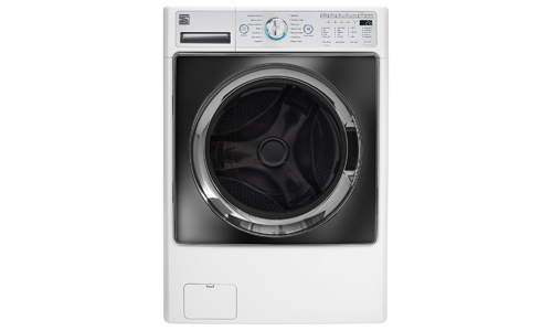 Kenmore presents Elite Front Load 4.5 cu. Ft. Washer and Dryer 41002, WHITE