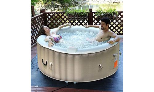 GoPlus presents Inflatable Hot Tub for Jet Bubble Massage, Portable Design