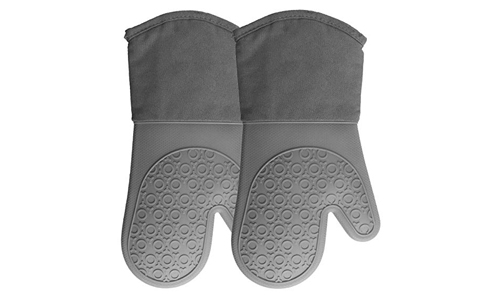 HOMWE Silicone Oven Mitts Grey