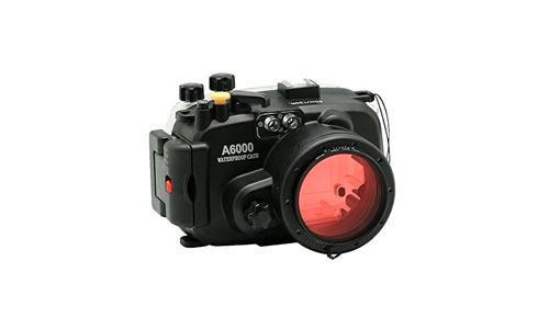 Sea frogs: 130ft/40m Underwater Camera Housing Waterproof Case compatible with 16-50mm Lens (Housing + Red Filter).