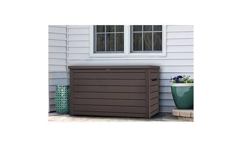 Keter XXL 230 gallon plastic deck storage container