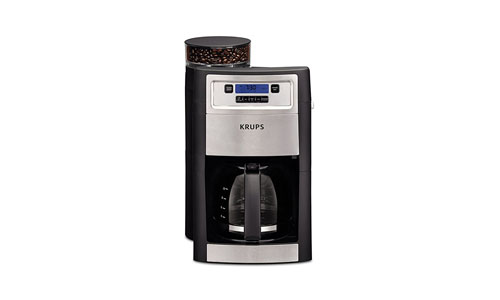 KRUPS presents Automatic 10-Cup Coffee Maker and Grinder KM785D50