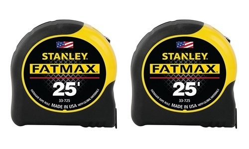 Stanley presents Pack of 2 FatMax 25-Foot Measuring Tape FMHT74038A