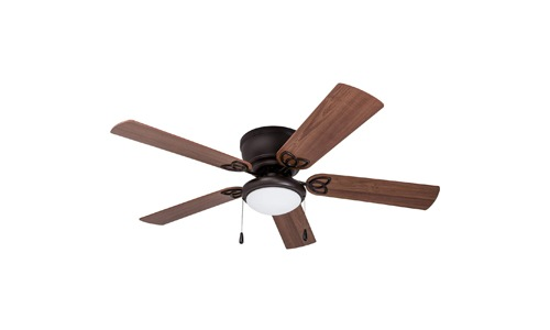 Prominence Home presents 52-inch Brealey Hugger Low-Profile Ceiling Fan with LED Light Bowl 40271-01, Bronze