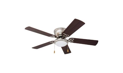 Prominence Home presents 52-inch Brealey Hugger Low-Profile Ceiling Fan with LED Bowl Light 40270-01, Brushed Nickel