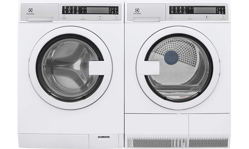 ELECTROLUX Products presents Compact EFLS210TIW Front Load Washer and EFDE210TIW Electric Dryer
