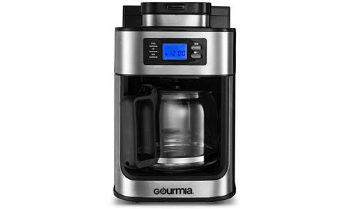 Gourmia presents Programmable 10-Cup Coffee Maker and Grinder, 1050W