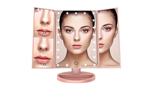 BESTOPE makeup vanity mirror with twenty one led lights