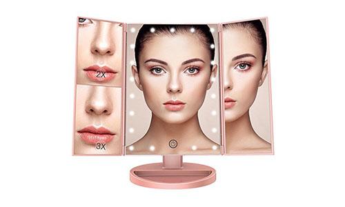 BESTOPE makeup vanity mirror with twenty one led lights