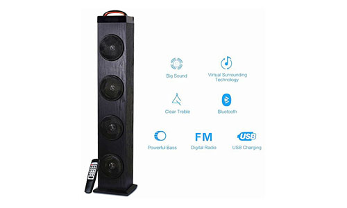 TRANSPEED Wireless Bluetooth Floor Standing Speaker