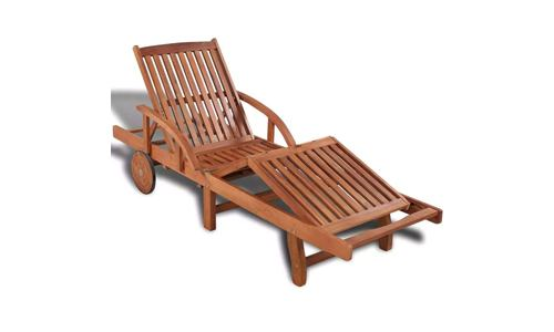 Festnight Patio Chaise Lounge Chair