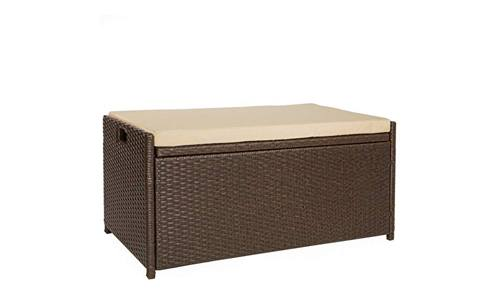 Victoria Young Resin wicker deck box storage bench container