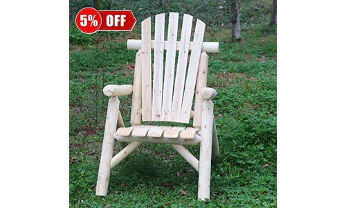 KdGarden Premium Quality Cedar/Fir Log Wood Outdoor Durable Rocking Chair