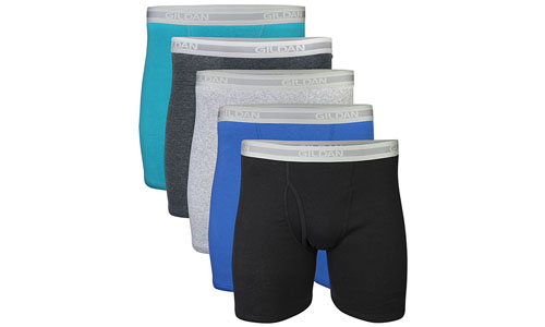 Gildan Men's Leg Boxer Briefs Regular Multipack