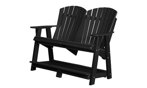 Double High Heritage Adirondack Chair Bench from Recycled Plastic by WILDRIDGE