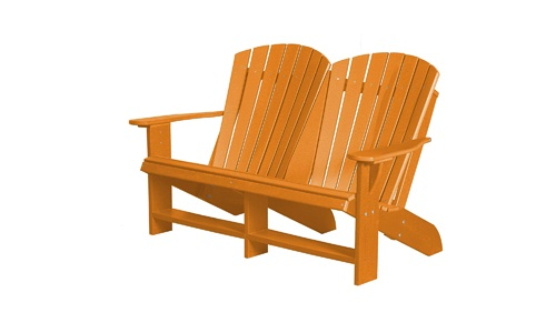 Heritage Patio Adirondack Rocking Chair Bench by WILDRIDGE