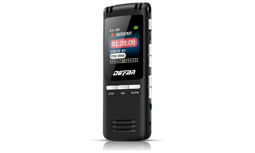 DGFAN: Voice Recorder, 560 Hours Rechargeable 8GB Audio Voice Activated Recorder Dictaphone Stereo with Mini USB & MP3 Player.