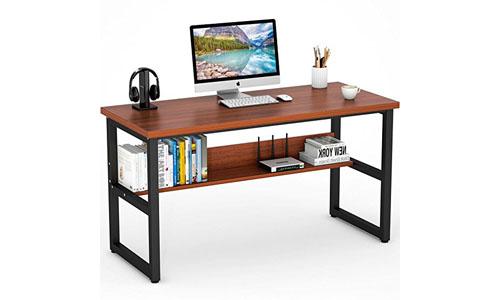 Tribesigns Computer Desk with Bookshelf, 55