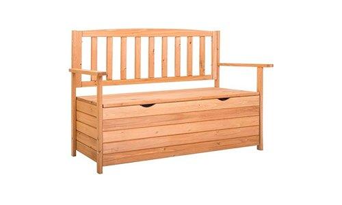 Leisure zone outdoor storage bench