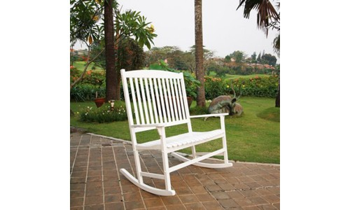 Outdoor High Quality Double Rocking Chair with 2 Seats