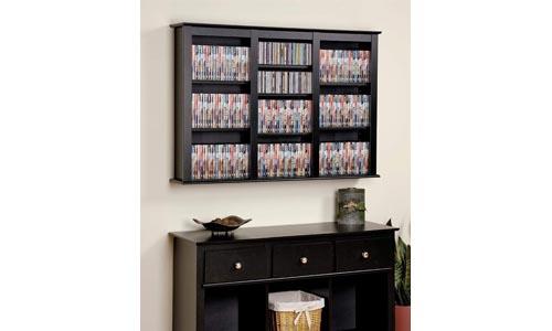 Prepac Triple Wall Mounted Storage Cabinet, Black