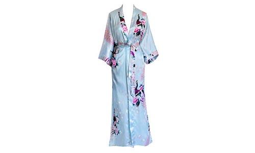 Old Shanghai Women's Kimono Long Robe