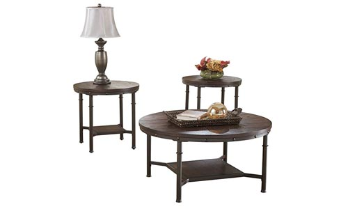 Ashley Furniture with a Rustic Brown finish
