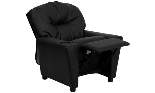 Flash Furniture Kids' Recliner (Black Leather)
