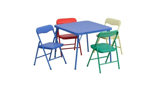 Flash Furniture Set of Folding Table and Chair