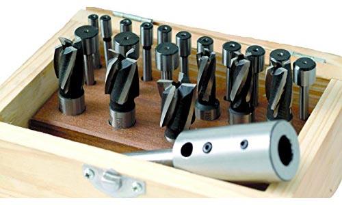 HHIP 2007-0021 21 Piece HSS Interchangeable Pilot Counterbore Set