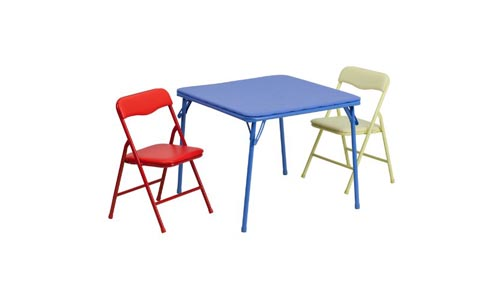 Flash Furniture 3 Piece Folding Chair and Table Set