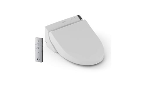 TOTO SW204401 C200 WASHLET Electronic Bidet Toilet Seat with Premist and SoftClose Lid, Elongated, Cotton White