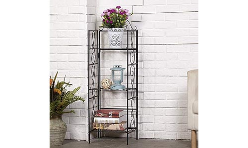 AMAGABELI GARDEN & HOME Versatile 3 Tier Standing Wire Shelf Shelving Unit Bakers