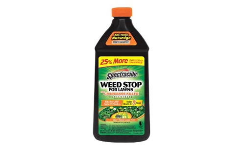 Spectracide HG-96624 Concentrate, Weed Stop plus Crabgrass Killer Lawns, Black