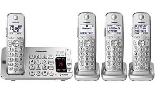 Panasonic KX-TGE474S Bluetooth Cordless Phone