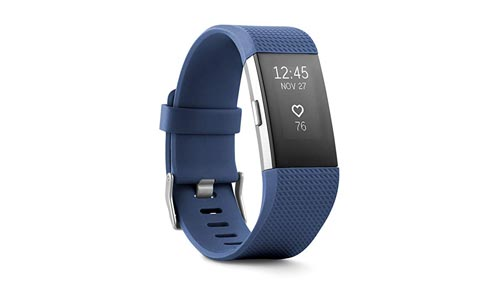 Fitbit Charge 2 Heart Rate + Fitness Wristband, Blue, Small (Us Version)