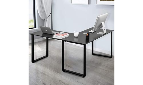 Merax L Shaped Office Workstation Computer Corner Home Wood Laptop Table Study Desk
