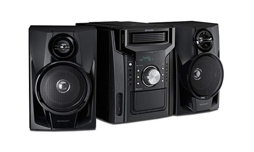 Sharp Mini Shelf Speaker System with Cassette and Bluetooth