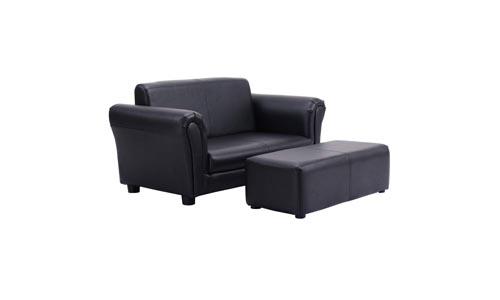 Costzon Kids Sofa Armrest Children Couch (Black)