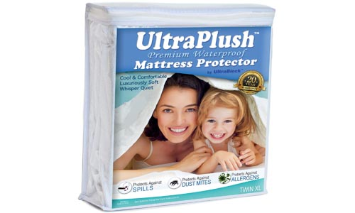 Ultra Plush Premium Futon Full Size Waterproof Mattress Protector - Super Soft Quiet Cover
