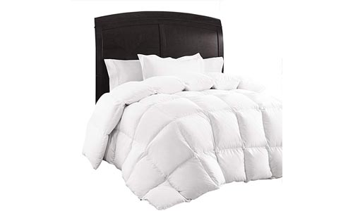 Queen Comforter, Down Duvet Alternative Insert Set with Corner Tabs, All-Season Quilted White Hypoallergenic & Reversible, Box Stitched Goose Down Alternative Fill, Brushed Microfiber