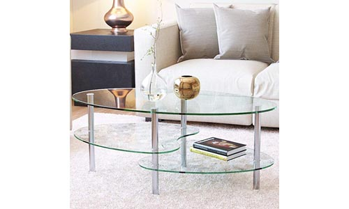 Ryan Rove Ashley Two Tier Glass Coffee Table