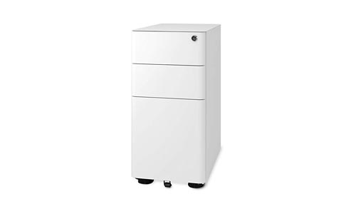 DEVAISE 3 – Drawer Slim Mobile File Cabinet