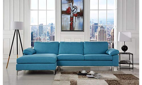 Modern Large Linen Fabric Sectional Sofa