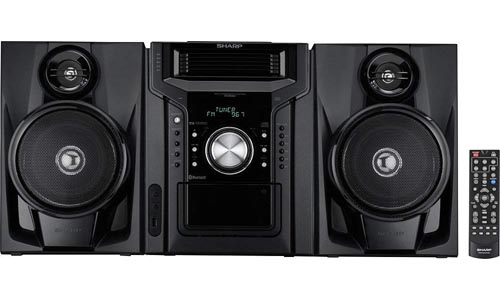 Sharp Bluetooth Hi-Fi Home Audio Stereo Sound System With Cassette Player