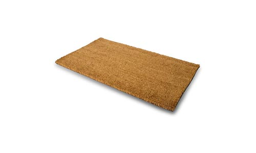 MPLUS Pure Coco Coir Doormat with Heavy-Duty PVC Backing - House - Perfect color/sizing for outdoor/indoor uses. Pile Height: 15mm - Size: 18