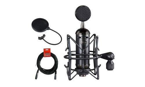 Blue Blackout Spark Condenser Microphone with Pop Filter