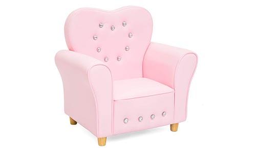 Best Choice Heart-Shape Accent Chair (Pink)