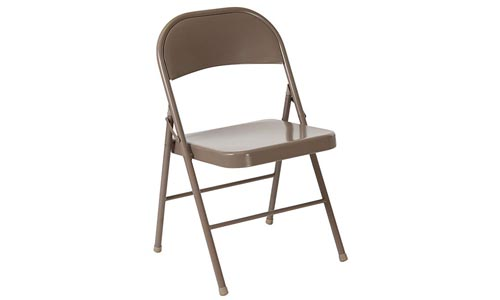 Flash Furniture Beige Metal Folding Chair (HERCULES Series)